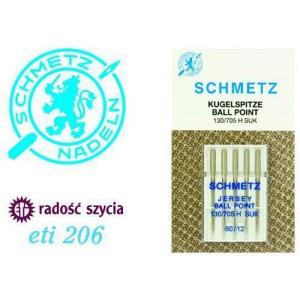 Akcesoria do maszyn do szycia Schmetz Igły z kulką do dzianin ETI206 - 5 szt. 5x80