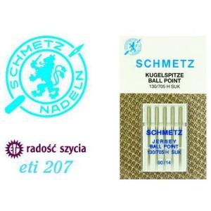 Akcesoria do maszyn do szycia Schmetz Igły z kulką do dzianin ETI207 - 5 szt. 5x90